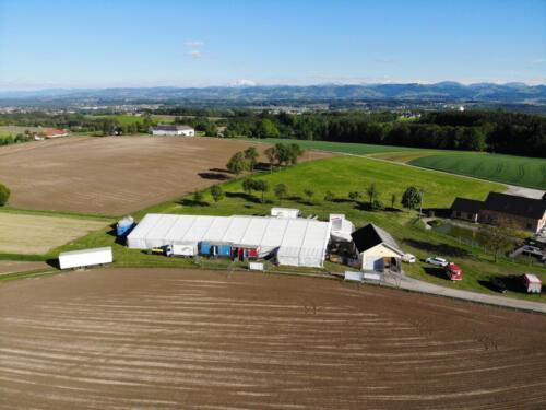 Zeltfest Boxhofen 2019 Aufbau